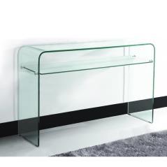 GLASSER CLEAR ΚΟΝΣΟΛΑ ΜΕ ΡΑΦΙ ΓΥΑΛΙ 12mm 110Χ35Χ75