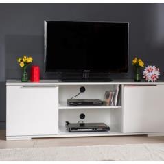 FLAT LINE ΕΠΙΠΛΟ TV ΞΥΛΙΝΟ ΣΕ ΛΕΥΚΟ ΧΡΩΜΑ 140x45x47 cm