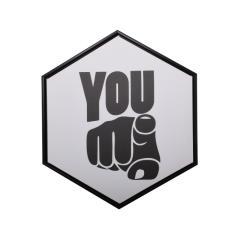 """ΚΑΔΡΑΚΙ ΠΟΛΥΓΩΝΟ """"YOU"""" 40x40 cm"""