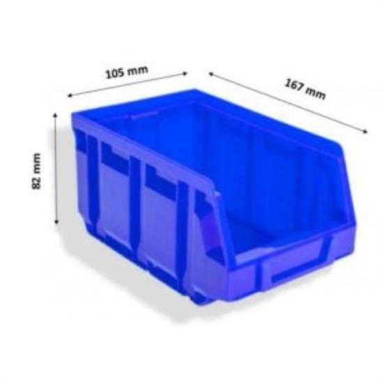ΠΛΑΣΤΙΚΟ ΣΚΑΦΑΚΙ BULL 2 ΜΠΛΕ (82x105x167mm)