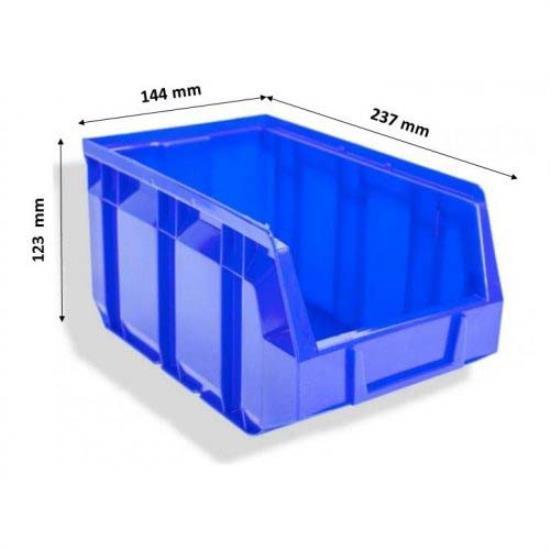 ΠΛΑΣΤΙΚΟ ΣΚΑΦΑΚΙ BULL 3 ΜΠΛΕ (123x144x237mm)