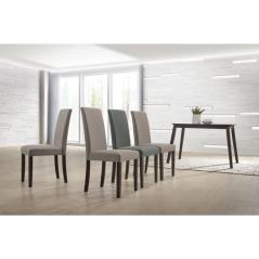 OPTIMAL SET ΤΡΑΠΕΖΑΡΙΑ ΣΑΛΟΝΙ - ΚΟΥΖΙΝΑ : ΤΡΑΠΕΖΙ ΜΕ 4 ΚΑΡΕΚΛΕΣ GREEN WALNUT - ΥΦΑΣΜΑ ΜΠΕΖ Table:120x75x74 Chair:44x60x93