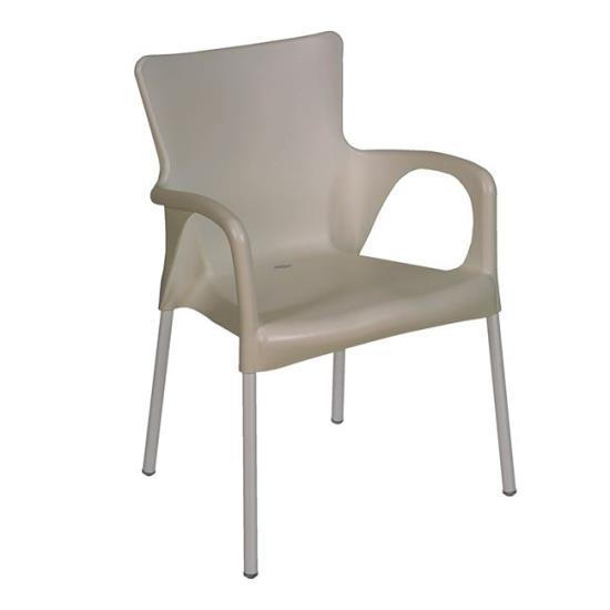 LARA Πολυθρόνα Στοιβαζόμενη PP-UV Tortora 55x52x85cm