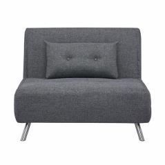 Berlin πολυθρόνα-κρεβάτι ύφασμα σκούρο γκρι (ΜΠΥ) 100x91x92 cm κρεβάτι 105x190 cm