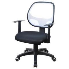 Καρέκλα τροχήλατη μαύρη με γκρι δίχτυ στην πλάτη (ΜΠΥ)63x60x91/99 cm