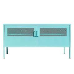 Nextdeco έπιπλο TV-ντουλάπι γαλάζιο μεταλλικό με 2 πόρτες (ΜΠΥ)118x40x60 cm