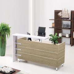 PROJECT Reception Sonoma/Άσπρο 180x75x110cm