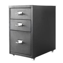Nextdeco συρταριέρα με 3 συρτάρια μαύρη μεταλλική (ΜΠΥ)41x28x48,6 cm