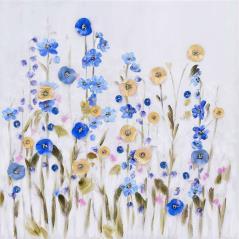 "InArt Πίνακας ""λουλούδια"" σε Καμβά 80x80cm"