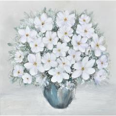 "InArt Πίνακας ""Γλάστρα με Λουλούδι"" σε Καμβά 80x80cm"