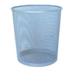 Καλάθι αχρήστων ασημί (ΜΠΥ)Δ29,5x34cm