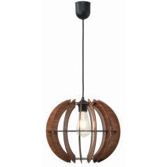 Φωτιστικό μονόφωτο ξύλο καφέ Ε27 Φ32x28/110cm