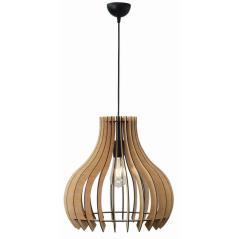 Φωτιστικό μονόφωτο ξύλο natural Ε27 Φ42x40/110cm