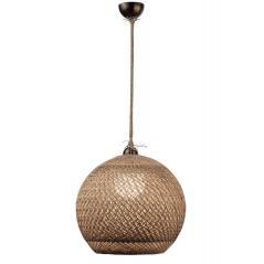Φωτιστικό μονόφωτο μπάλα σχοινί Ε27 Φ40x130cm