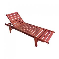 Illy ξαπλώστρα βαρέως τύπου ξύλο άσπρο 66x198x36cm