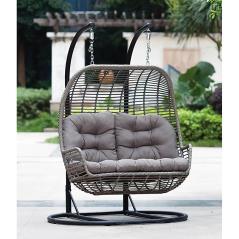 Κουνιστή Καρέκλα Rattan Με Μεταλλική Βάση (Κούνια)150x69x135cm/(Βάση)175x118x180cm
