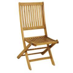 Καρέκλα Πτυσσόμενη Ξύλινη Χαμηλής Πλάτης ,Acacia Wood Φυσικό