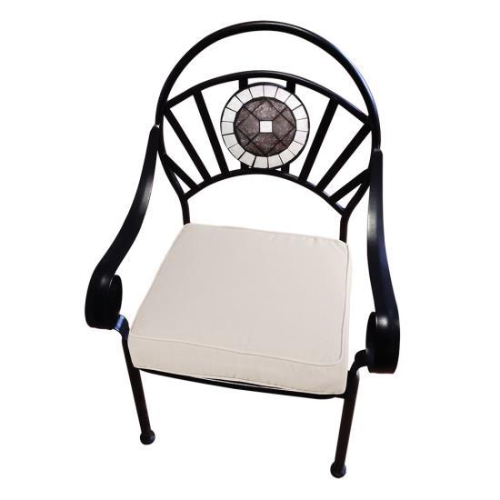 Στοιβαζόμενη Μεταλλική Πολυθρόνα Με Μαξιλάρι 58x60x91cm