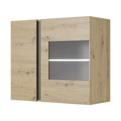 Arco Βιτρίνα κρεμαστή χρώμα sonoma-ανθρακί 96,5x40x82,5 cm