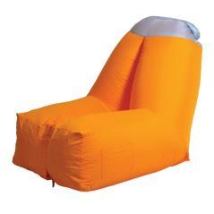 Πορτοκαλί Φουσκωτή Πολυθρόνα Παραλίας 121x91x98(h)cm