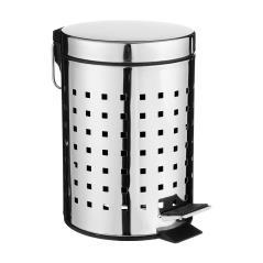 Dustbin Κάδος απορριμμάτων 3L μεταλλικός μαύρο-INOX 17x17x24,5 cm