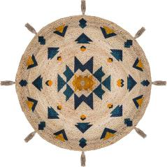 Hacien Χαλί γιούτα πολύχρωμο Φ115x0,5cm