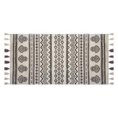 Rute Χαλί βαμβάκι μαύρο-λευκό 140x70cm