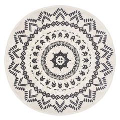 Nomade Χαλί βαμβάκι μαύρο-λευκό Φ120x0,5cm