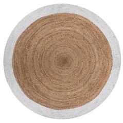 Jute Χαλί γιούτα λευκό-φυσικό Φ120x1cm
