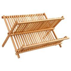 Labon Πιατοθήκη bamboo φυσικό 42,5x33,5x25,5cm