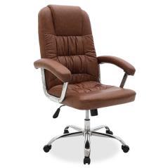 Viggo Καρέκλα γραφείου διευθυντή τεχνόδερμα καφέ 72x77x110 cm