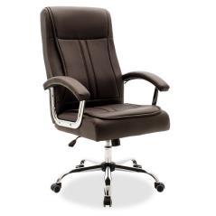 Legent Καρέκλα γραφείου διευθυντή με pu χρώμα σκούρο καφέ 64x76x115 cm