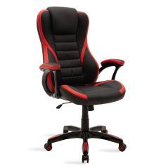 Starr Καρέκλα γραφείου gaming από pu χρώμα μαύρο-κόκκινο 75,5x74x119 cm