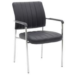 Leon Καρέκλα γραφείου επισκέπτη με pu χρώμα μαύρο 60x58x82 cm