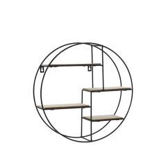 Στρογγυλό μεταλλικό ράφι τοίχου (4θ) Φ40x10,2cm | ZAROS