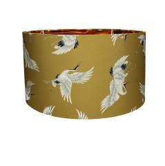 Υφασμάτινο καπέλο για φωτ/κο οροφής μουσταρδί Φ45x28cm | ZAROS