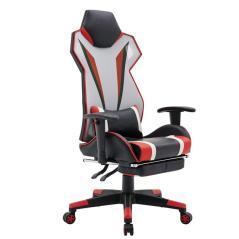 BF9550 Gaming-Relax Πολυθρόνα Γραφείου Μπράτσα Up Down, Pu / Mesh Μαύρο - Κόκκινο -Άσπρο 65x65x121/131cm