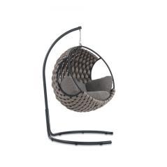 OPTI steel κούνια μεταλλική με σχοινί ανθρακί 115x125x90cm /110x196cm