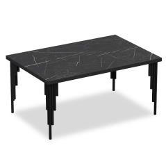 Irems Τραπέζι σαλονιού χρώμα μαύρο μαρμάρου 92x68x42 cm
