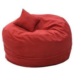 Puko Πουφ υφασμάτινο κόκκινο Φ95 cm