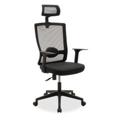 Oregon Καρέκλα γραφείου διευθυντή με ύφασμα mesh χρώμα μαύρο 60,5x57x117 cm