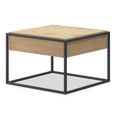 Enjoy Τραπέζι σαλονιού με συρτάρι χρώμα φυσικό 60x60x42 cm
