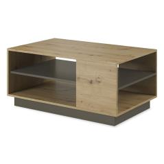Arco Τραπέζι σαλονιού χρώμα sonoma-ανθρακί 100x60x45,5 cm