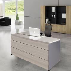 PROGRESS Γραφείο Απόχρωση Elm - Grey 160x80x75cm