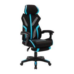 BF9000 πολυθρόνα Gaming-Relax Mesh-Ύφασμα Μαύρο/Μπλε 62x65x115/125cm