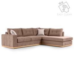 Boston Γωνιακός καναπές αριστερή γωνία ύφασμα mocha-cream 280x225x90cm