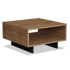 Hola Βοηθητικό τραπέζι χρώμα φυσικό - ανθρακί 60x60x32 cm
