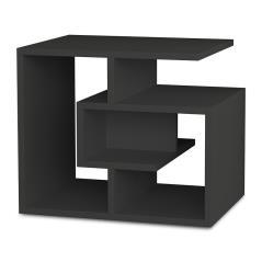 Labirent Βοηθητικό τραπέζι χρώμα ανθρακί 54x40x45 cm