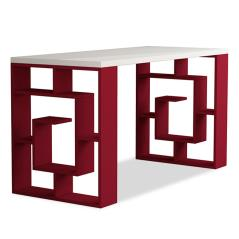 Labirent Γραφείο χρώμα λευκό - σκούρο κόκκινο 140x60x75 cm