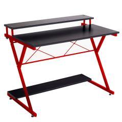 Turin Γραφείο χρώμα μαύρο-κόκκινο 100x45x75 cm